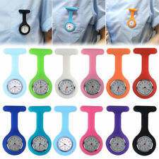 Silicone Nurse Watch Brooch Tunic Fob Watch With Free Battery Doctor Medical NEW