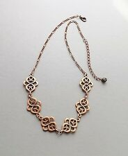 Copper Celtic style pattern necklace .. knot pendant chain glam jewellery