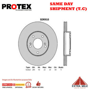 Protex Ultra Select Front Rotor Pair For NISSAN MAXIMA J30 3.0L 1988 - 1995