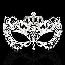 Extravagant Butterfly Light Metal Masquerade Mask for Women M7164 [White]