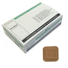 Box of Steroplast Sterostrip Washproof Hypo-Allergenic Square 4cm x 4cm Plasters