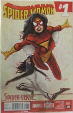 Marvel Comics Spider-Woman #1 Spider Verse Crossover.  Silk appearance