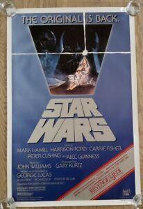 C9 ROLLED! STAR WARS 1982 Original Movie Poster 27x41 Revenge of The Jedi Banner