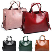 Ladies Women Fashion Large Leather Tote Hobo Shopper Shoulder Bag Handbag