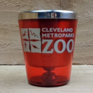"CLEVELAND METROPARKS ZOO - OHIO - PLASTIC ""Shot Glass"" orig."