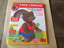 j'aime l'anglais 13. avec CD . the beach.