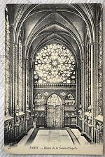 """CPA """" PARIS - Rosace de la Sainte Chapelle"""
