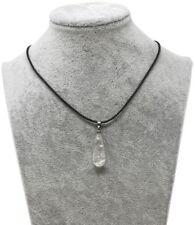 Bergkristall Anhänger Träne als Geschenkset mit Lederkette, Kristall Tropfen