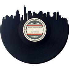 Boston Skyline Vinyl Record Art