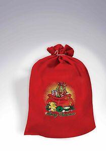 Santa Claus Toy Bag Christmas Toy Shop Red Bag