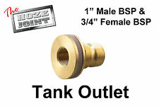"""Tank Outlet - 1"""" BSP Male Thread x 3/4"""" BSP Female Thread - DIY"""