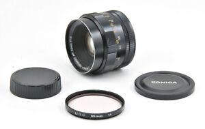 Serviced Konica Hexanon AR 52mm F1.8 Lens For Konica AR Mount!