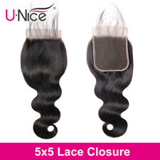 5X5 Lace Closure Body Wave 100% Human Hair Closure Bleached Knots With Baby Hair