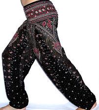 Sarouel Femme Pantalon Ethnique Aladin Harem Pant Aladdin yoga noir black