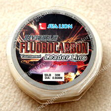 NEW Sea Lion 100% Made in Japan Fluorocarbon Leader Fishing Line 50LB 30M