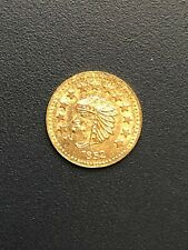 1852 California Gold Token 1/2 Dollar Round Indian Head & Bear