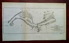 1899 Missouri River Fort Leavenworth Kansas Azimuth MO. P.R.R. Map