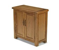 Solid Rustic Oak Two Door Compact Cupboard Cabinet | Earlsbury Range