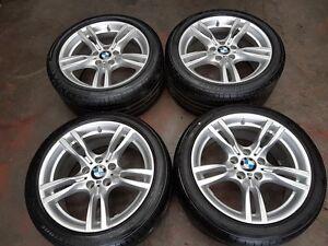 "BMW 4 SERIES M-SPORT F30 F31 F32 F33 F34 4X18"" 5 DOUBLE SPOKE ALLOYS WITH TYRES"