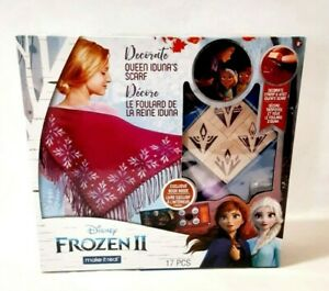 Disney's Frozen 2 Decorate Queen Iduna's Scarf w/Stamps Craft Kit Make It Real