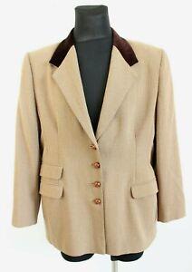 Viyella Brown V-Neck Four Button Long Sleeve Woman Blazer Size 44
