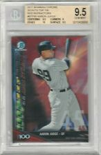 Aaron Judge 2017 Bowman Chrome Top 100 Red Refractor #/5 Rookie RC BGS 9.5 GEM