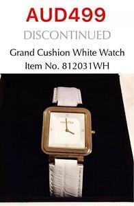 GENUINE PANDORA Grand Cushion Watch With Diamonds, 812031WH