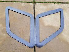 FOCUS RS MK3 STYLE ABS PLASTIC UNDER BONNET VENT TRIM PLATES CARBON EFFECT