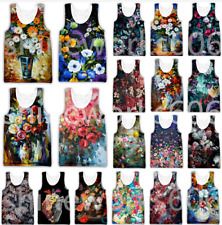 Hot Summer Cool Flowers 3D Print Sleeveless Tank Top Men Women Singlet Vest Tees