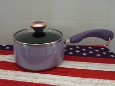 "PAULA DEEN 2 QT COVERED SAUCEPAN~ ""PURPLE"" SPECKLE~NON-STICK~NEW"