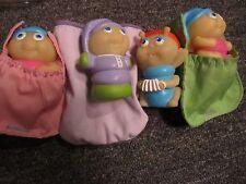 Vintage Set of 4 Glo Bug Glow Worms With Sleeping Bags