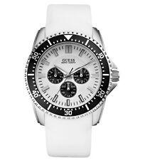 GUESS w90070g5 FOCUS Reloj de hombre correa de silicona blanco