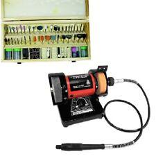 229pc Mini Bench Grinder w/ FLEX Shaft Kit Rotary Tool Grinding Polishing NEW