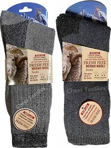 Thermal Socks Mens Winter Thick Merino Wool Walking Hiking Heavy Duty Work Boot