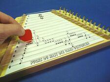 Kinder Musikinstrument ZITTER Zupfinstrument in HOLZAUSFÜHRUNG            411-11