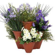 Pure Garden Stackable Planters Herb Garden Pots Vertical Flowers