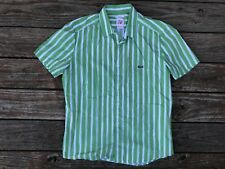 Lacoste Live Men's Short Sleeve Button Up Plaid Shirt Sz 42 Skinny Fit EUC A++