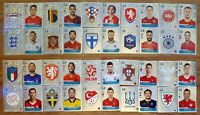 PANINI EURO 2020 PREVIEW STICKERS FULL SET OF FORTY (40) FOIL STICKERS *SEE PIC