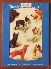 Vintage Meyercord Decals Dogs X522B