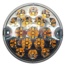 95MM AMBER LED CLEAR INDICATOR LAMP LIGHT UPGRADE LAND ROVER 90 110 DEFENDER NAS