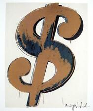 ANDY WARHOL HAND SIGNED SIGNATURE * DOLLAR SIGN *  PRINT  W/ C.O.A.