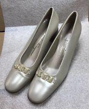 """FERRAGAMO-STYLE  1.5"""" Heels Classic Pumps Court Shoes DR 39542 H47 Size 7 3a"""