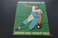 CHICAGO CUBS 1972 SCORE CARD VS. ST. LOUIS CARDINALS - SIGNED BY WILLIAMS, CRUZE