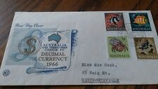 1966 AUSTRALIA  DECIMAL FDC COVER  £2.99 POST FREE WORLDWIDE