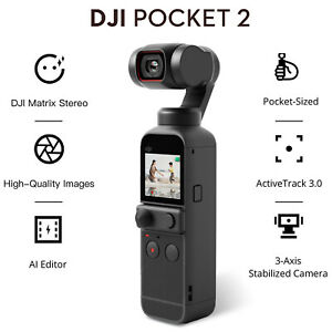 DJI Osmo Pocket 2 Touchscreen Handheld 3-Axis Gimbal Stabilizer Camera