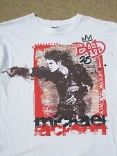 Michael Jackson BAD 25Th Anniversary Limited Edition White T-Shirt Sz L