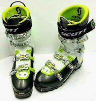 $800 Scott Cosmos II Alpine Touring AT Size 28.5, 10.5 Ski Boot White Green Men