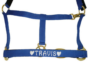 Personalised Embroidered Padded Headcollar with Heart Motif All Sizes From £9.90