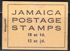 Jamaica Postage Stamps 1947 SB10a Booklet Black on yellow cover CV 150$George VI