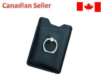 Phone Card Holder with Ring Grip for Back of Phone,Adhesive Stick-on Credit Card
